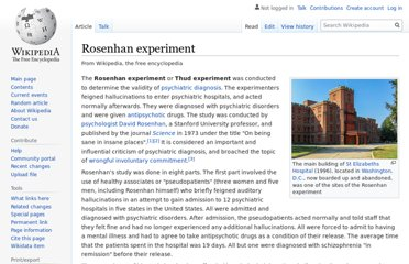 https://en.wikipedia.org/wiki/Rosenhan_experiment