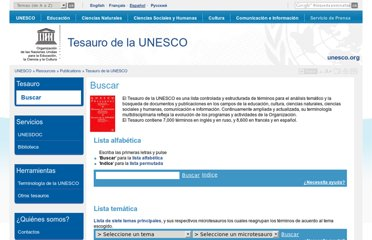 http://databases.unesco.org/thessp/