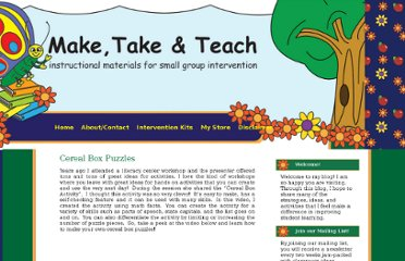 http://blog.maketaketeach.com/cereal-box-puzzles/