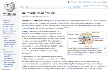 http://en.wikipedia.org/wiki/Neuroscience_of_free_will
