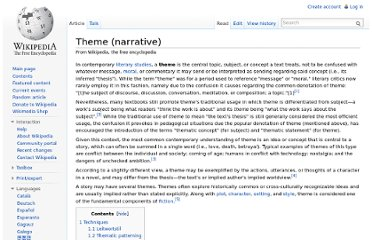 http://en.wikipedia.org/wiki/Theme_(narrative)