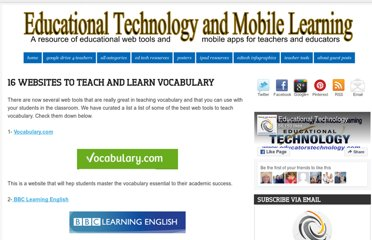 http://www.educatorstechnology.com/2013/02/16-websites-to-teach-and-learn.html