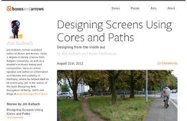 http://boxesandarrows.com/designing-screens-using-cores-and-paths/