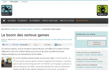 http://www.kelformation.com/editorial/formation-continue/actu/detail/article/le-boom-des-serious-games.html