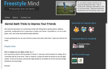 http://freestylemind.com/mental-math-tricks