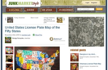 http://www.junkmarketstyle.com/item/29862/united-states-license-plate-map-of-the-fifty-states