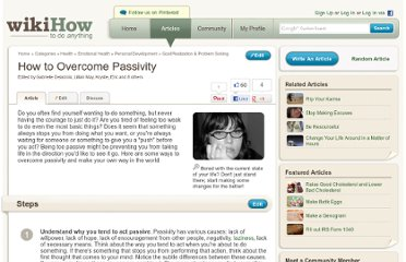 http://www.wikihow.com/Overcome-Passivity