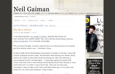 http://journal.neilgaiman.com/2013/02/the-best-advice.html