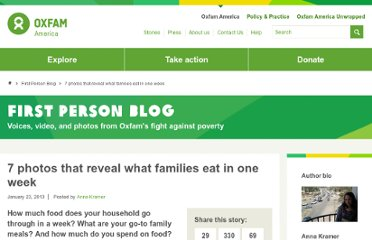 http://firstperson.oxfamamerica.org/2013/01/23/7-photos-that-reveal-what-families-eat-in-one-week/