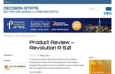 http://decisionstats.com/2011/11/22/product-review-revolution-r-5-0/