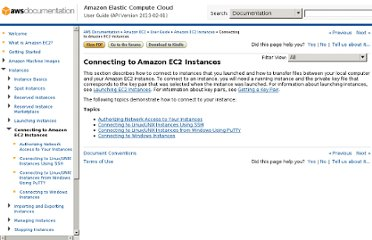 http://docs.aws.amazon.com/AWSEC2/latest/UserGuide/AccessingInstances.html#authorizing-access-to-an-instance