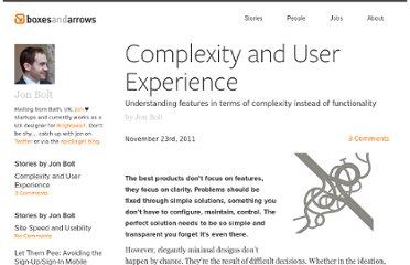 http://boxesandarrows.com/complexity-and-user-experience/