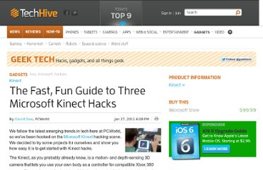 http://www.techhive.com/article/217597/three_easy_ways_to_hack_your_kinect.html