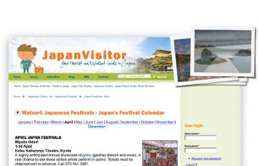 http://www.japanvisitor.com/japanese-festivals/festival-april