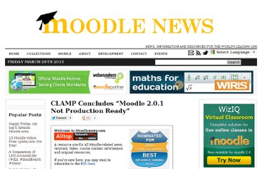 http://www.moodlenews.com/2011/clamp-concludes-moodle-2-0-1-not-production-ready/comment-page-1/#comments