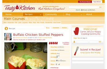 http://tastykitchen.com/recipes/main-courses/buffalo-chicken-stuffed-peppers/