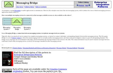 http://www.eaipatterns.com/MessagingBridge.html