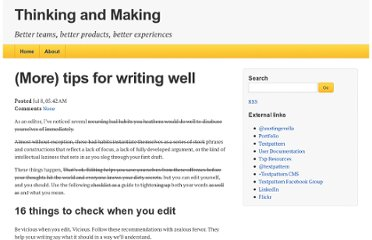 http://thinkingandmaking.com/thoughts/91/more-tips-for-writing-well