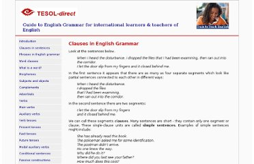 http://www.tesol-direct.com/guide-to-english-grammar/clauses