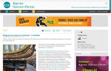 http://www.sciencepresse.qc.ca/blogue/2013/01/27/blogues-science-francais-3-constats