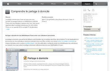 http://support.apple.com/kb/HT3819?viewlocale=fr_FR