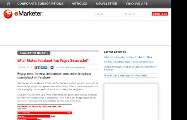 http://www.emarketer.com/Article/What-Makes-Facebook-Fan-Pages-Successful/1008205