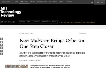 http://www.technologyreview.com/news/425832/new-malware-brings-cyberwar-one-step-closer/