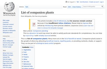 https://en.wikipedia.org/wiki/List_of_companion_plants