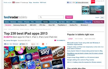 http://www.techradar.com/news/mobile-computing/tablets/top-230-best-ipad-apps-2013-681998