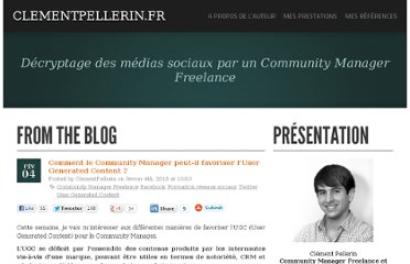http://www.clementpellerin.fr/2013/02/04/comment-le-community-manager-peut-il-favoriser-luser-generated-content/