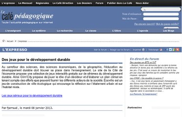 http://www.cafepedagogique.net/lexpresso/Pages/2013/01/08012013Article634932191070358756.aspx