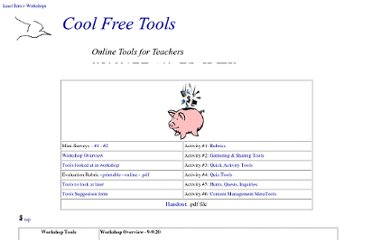 http://www.leasttern.com/workshops/cooltools/