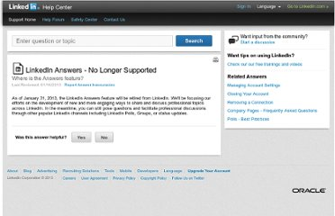 http://help.linkedin.com/app/answers/global/a_id/35227/~/linkedin-answers---no-longer-supported