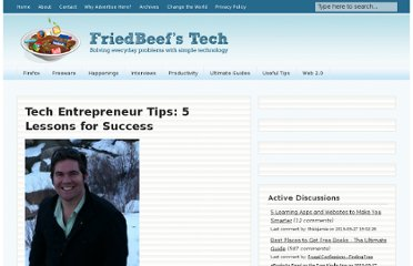 http://www.friedbeef.com/tech-entrepreneur-tips-lessons-for-success/
