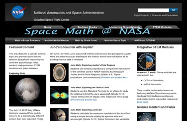 http://spacemath.gsfc.nasa.gov/SpaceMath.html