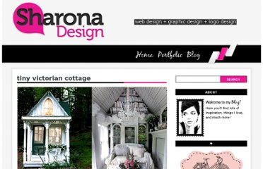 http://sharonadesign.com/tiny-victorian-cottage/