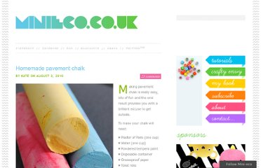 http://www.minieco.co.uk/homemade-pavement-chalk/