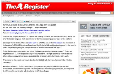 http://www.theregister.co.uk/2013/02/05/gnome_standardises_on_javascript/