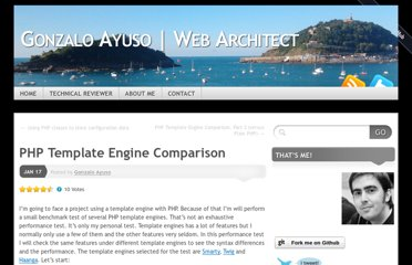 http://gonzalo123.com/2011/01/17/php-template-engine-comparison/