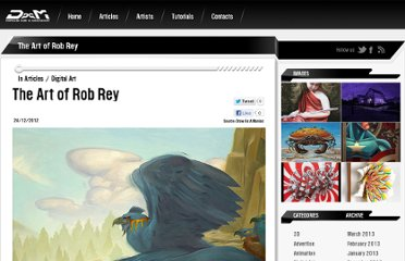 http://drawasamaniac.com/2012/12/the-art-of-rob-rey.html