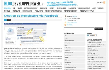 http://blog.developpeurweb.fr/2010/08/12/creation-de-newsletters-via-facebook/