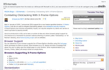 http://blogs.msdn.com/b/ieinternals/archive/2010/03/30/combating-clickjacking-with-x-frame-options.aspx