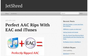 http://jetshred.com/2008/04/10/perfect-aac-rips-with-eac-and-itunes/