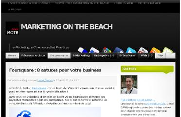 http://www.marketingonthebeach.com/foursquare-8-astuces-pour-votre-business/
