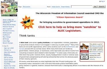 http://www.sourcewatch.org/index.php?title=Think_tanks