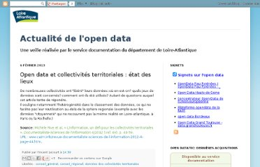 http://actualiteopendata.blogspot.com/2013/02/open-data-et-collectivites.html