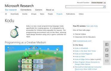 http://research.microsoft.com/en-us/projects/kodu/