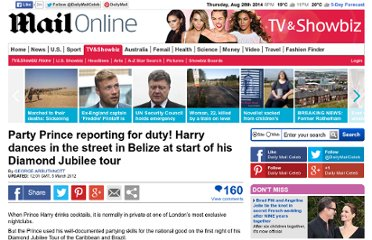 http://www.dailymail.co.uk/tvshowbiz/article-2109625/Prince-Harry-dances-street-Belize-start-Diamond-Jubilee-tour.html#axzz2JfBlDdB9