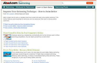 http://swimming.about.com/od/swimworkoutsandskills/u/learn_swim_improve_swimming.htm