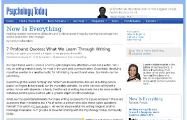 http://www.psychologytoday.com/blog/now-is-everything/201301/7-profound-quotes-what-we-learn-through-writing